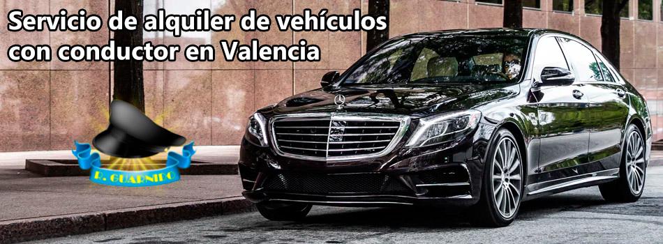 Servicio de alquiler de vehículos con conductor en Valencia