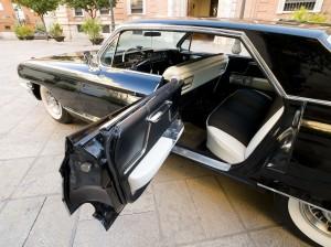 coches clásicos para bodas - interior