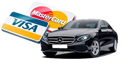 pago con tarjeta vehículos de alquiler