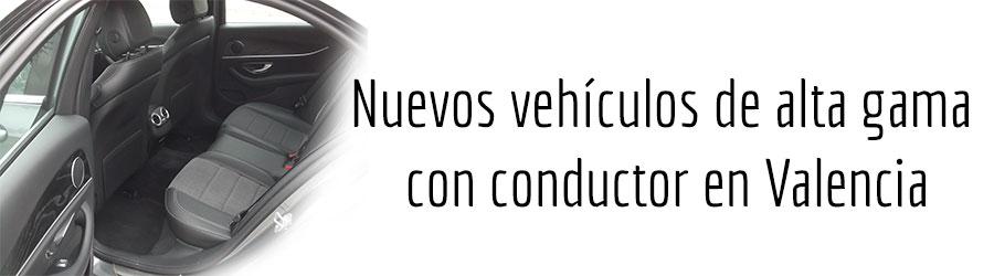 Nuevos vehículos de alta gama con conductor en Valencia